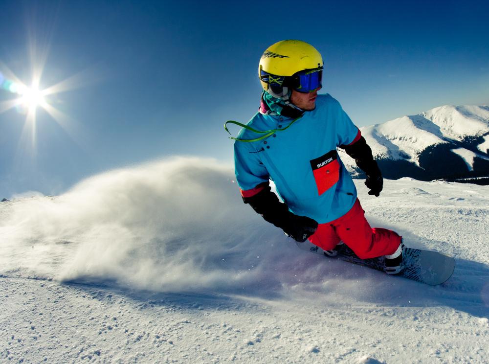 6. Сноубординг начинающим – повороты с перекантовкой